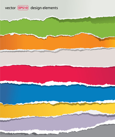 paper craft: conjunto de papel rasgado Vectores