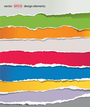 papier vierge: d�chir� ensemble de papier Illustration