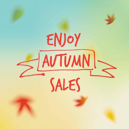 Vektor Herbst Verkauf Hintergrund Vektorgrafik