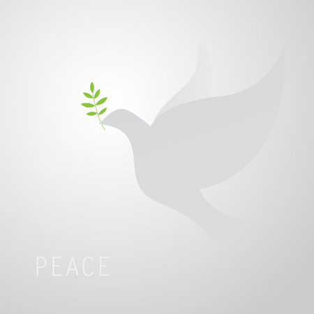 peace sign: dove of peace Illustration