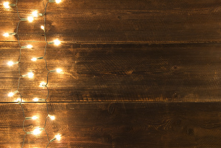 background wood: christmas light background Stock Photo