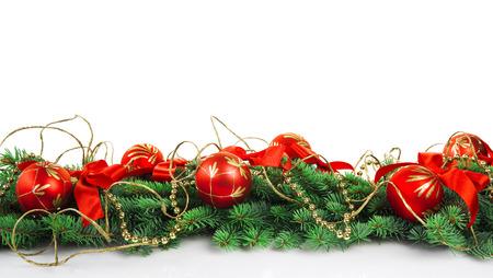 Kerst decoratie met kopie ruimte