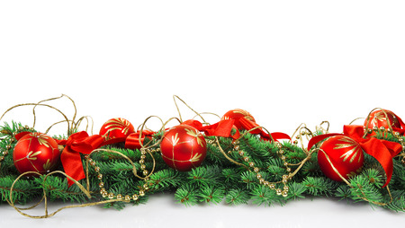 christmas decoration with copy space