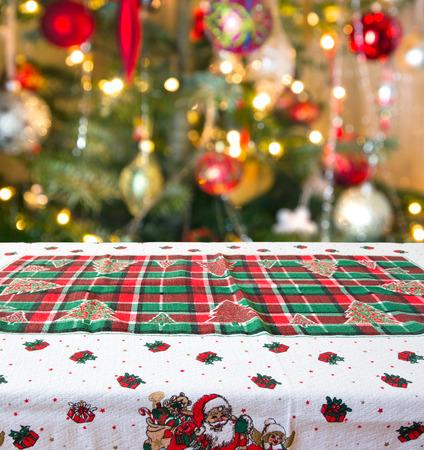 빈 크리스마스 테이블 배경
