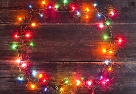 Christmas lights background Standard-Bild - 32611393