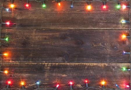 크리스마스 조명 프레임 배경