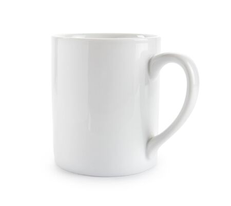 objects with clipping paths: white mug with clipping path