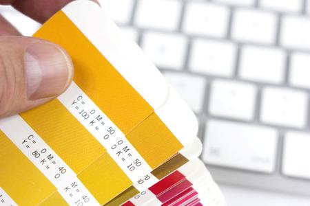 designer choosing the proper color