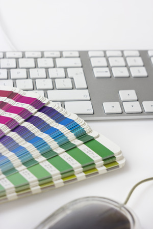 color swatches and keyboard Standard-Bild