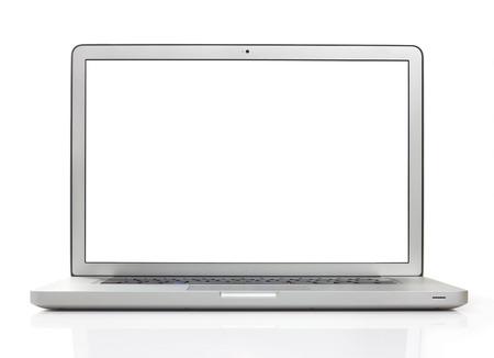 weiß: Laptop auf weißem Lizenzfreie Bilder
