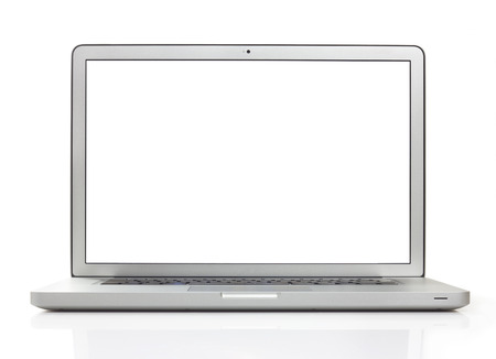 free backgrounds: Laptop on white  Stock Photo