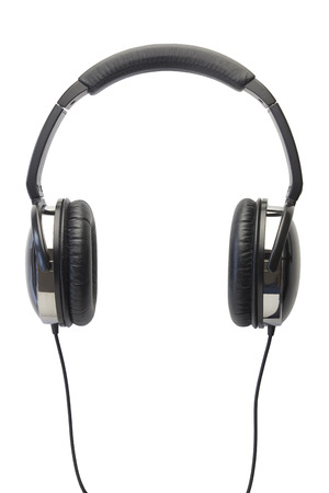 audifonos: auriculares aislados en blanco Foto de archivo