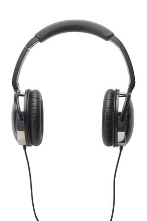 koptelefoon geïsoleerd wit Stockfoto