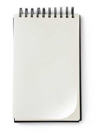blank notepad on white
