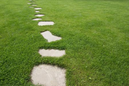 pathway: pathway in the backyard Stock Photo