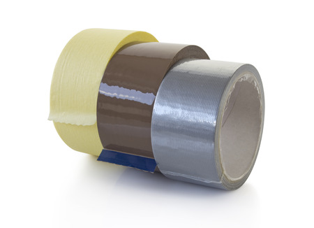 scotch tape: tapes with clipping path Stock Photo