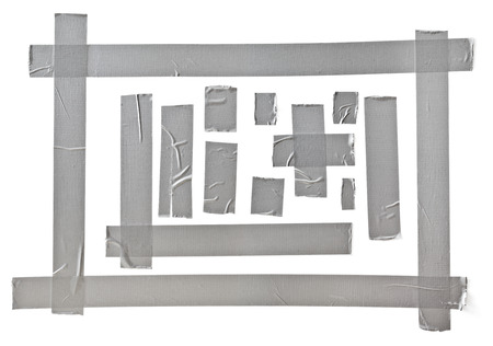 scotch tape: silver tape set Clipping path included