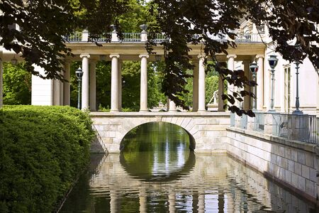lazienki: Part of the Royal Palace in Lazienki Park Warsaw