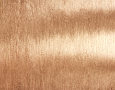 copper brushed metal texture background Stock Photo