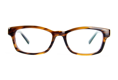 eyeglasses isolated on white background front view