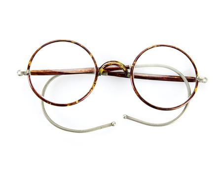 potter: vintage glasses isolated on white background