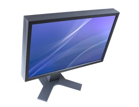 clipping: LCD monitor with two clipping paths Stock Photo