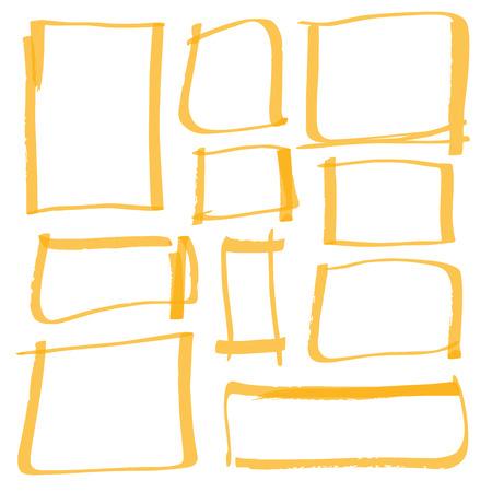 marker tekenen series - kleur kan met één klik worden gewijzigd
