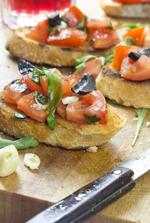 food buffet: brschetta Stock Photo