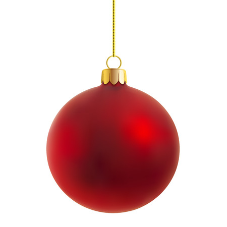 red sphere: vector Christmas ball