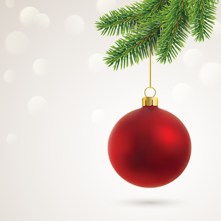 christmas card with copy space 矢量图像