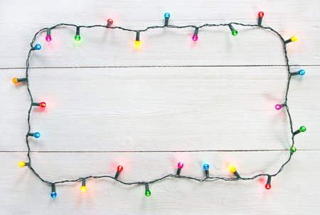 Kerstmis licht frame