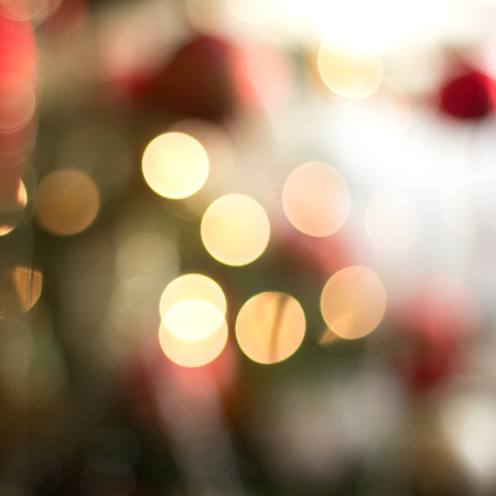 Christmas tree out of focus background Stock Photo