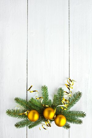 christmas decoration on white painted wooden board