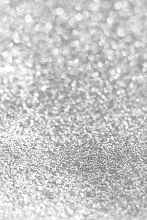 Shiny silver glitter defocused background