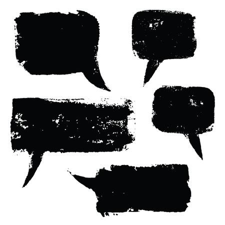 grunge speech bubbles Vektoros illusztráció