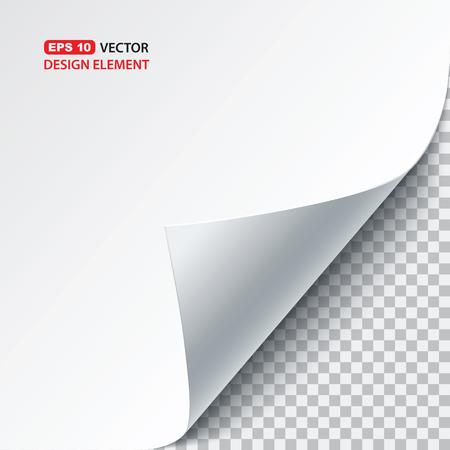 blatt: Vektor-Papier wellt Illustration