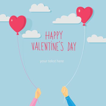 valentine heart: Valentines day vector card Illustration