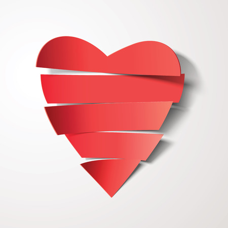 paper heart: Vector cut paper heart