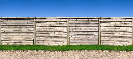 clipping  path: Seamless horizontally wooden fence, clipping path included Stock Photo