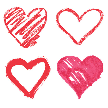 design icon: Vector heart set Illustration