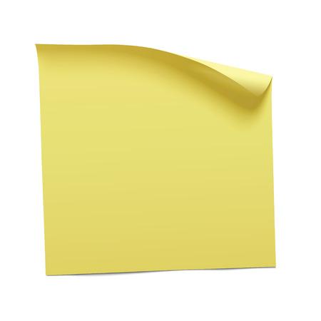 De color amarillo nota, vector Foto de archivo - 51582160