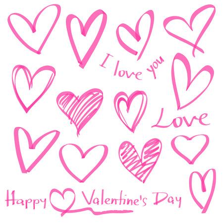 Patrón De Los Corazones Del Día De San Valentín Fondo De Iconos De
