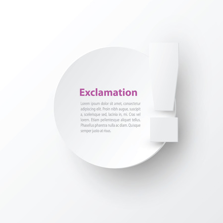 orthographic symbol: exclamation mark text bubble Illustration