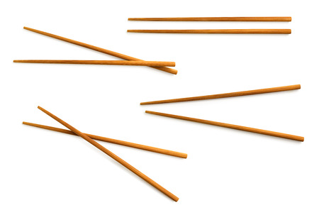 wooden chopsticks with clipping path included Stock Photo