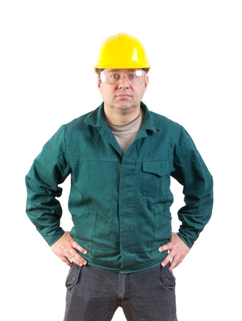 journeyman technician: serious worker portrait, clipping path included