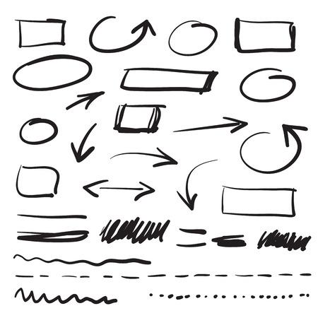 deletion: vector marker doodle design elements