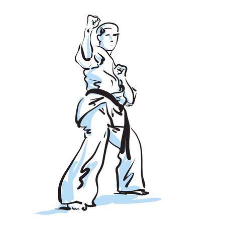 self training: karate fighter