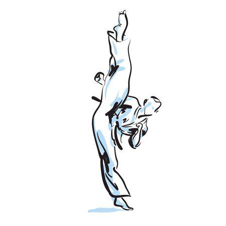 jujitsu: karate kick Illustration
