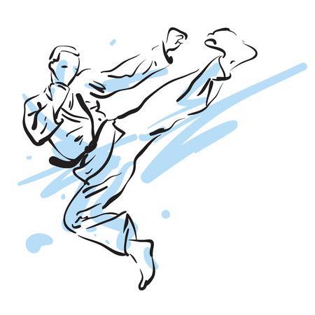 karate fighter: karate fighter side kick