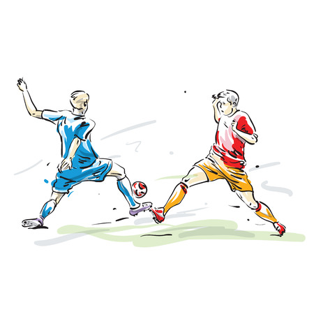 soccer players: soccer players Illustration